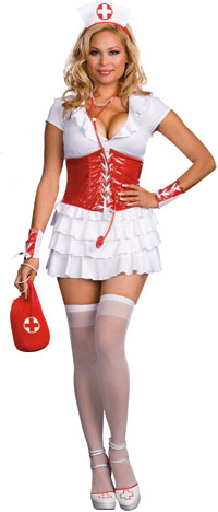 Plus Size Sexy RN Trouble Nurse Costume - Doctor and Nurse Costumes