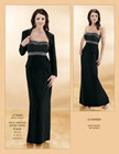 Elegant long black dress - perfect for a winter or evening wedding