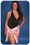 Short floral sarong Plus Size Swimwear